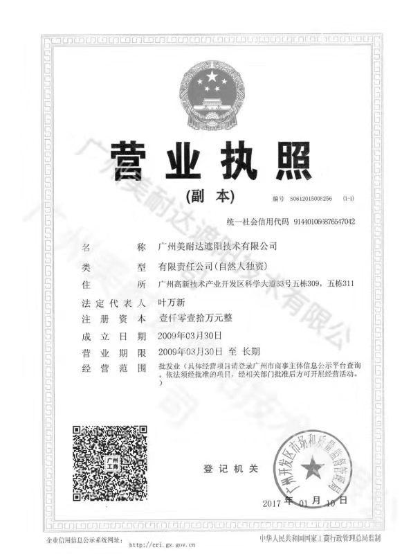 2009年正式成立广州美耐达公司